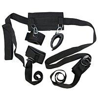 Бондажный набор из ошейника, наручников и наножников BadKitty